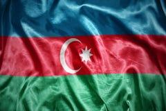 Shining azerbaijani flag. Waving and shining azerbaijani flag Royalty Free Stock Photo