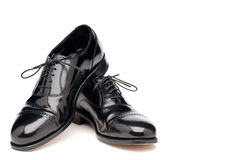 Shining back business shoes Royalty Free Stock Photo