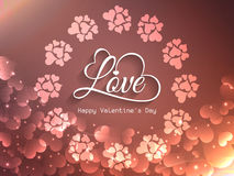 Shining background design for valentine's day Stock Photo
