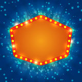 Shining background with retro casino light banner Royalty Free Stock Photography