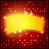 Shining background with retro casino light banner Stock Photo