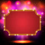 Shining background with retro casino light banner Royalty Free Stock Images