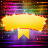 Shining background with retro casino light banner Stock Photography