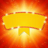 Shining background with retro casino light banner Stock Photos