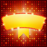 Shining background with retro casino light banner Royalty Free Stock Photos