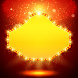 Shining background with retro casino light banner Royalty Free Stock Photo