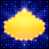 Shining background with retro casino light banner Royalty Free Stock Image