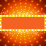 Shining background with retro light banner Royalty Free Stock Photography