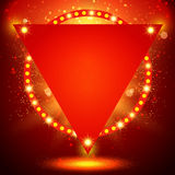 Shining background with retro light banner Stock Photos