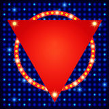 Shining background with retro light banner Royalty Free Stock Images