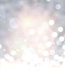 Shining background with snow. Royalty Free Stock Photography