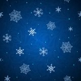 Shining background with snowflakes Royalty Free Stock Photos