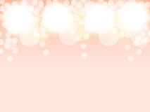 Shining balls on pink background vector illustration