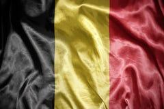 Shining belgian flag. Waving and shining belgian flag Stock Image