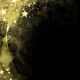 Shining black and gold background Royalty Free Stock Image
