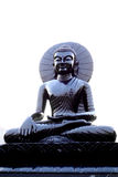 Shining Black Stone Buddha Stock Photo