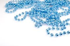 Shining blue beads Stock Photography