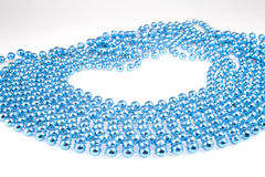 Shining blue beads Royalty Free Stock Photography