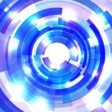 Shining blue circle tunnel Royalty Free Stock Image