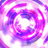 Shining blue circle tunnel. Abstract pink background Stock Photography