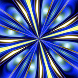 Shining blue golden abstract background. Shining golden circular abstract background in yellow, blue and yellow hues and colors. Abstract texture and design royalty free illustration