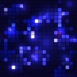 Shining blue mosaic seamless backgroud Royalty Free Stock Image
