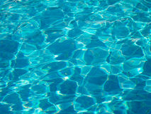 Shining blue water ripple Royalty Free Stock Image