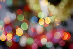 Shining bokeh background. In new year day Royalty Free Stock Photo