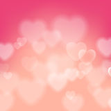 Shining bokeh effect hearts vector background Royalty Free Stock Photography