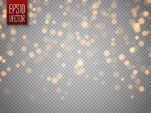 Shining bokeh isolated on transparent background. Christmas concept Stock Photos