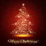 Shining Bright Christmas Tree. Celebration Card Stock Images