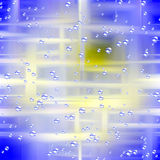Shining bubbles and abstract background. Shining bubbles of various sizes on blue background with lights. Abstract image royalty free illustration