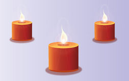 Shining candles Stock Images