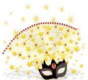 Shining Carnival Mask. A Shining Golden Carnival Mask Royalty Free Stock Image