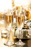 Shining Champagne Glasses (celebration) Royalty Free Stock Images