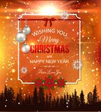 Shining christmas background. Shining christmas background with blurred snowflakes, bokeh lights, falling snow and place for text. Vector illustration vector illustration