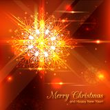 Shining christmas background with crystal. Snowflake and blurred bokeh lights. Vector illustration vector illustration