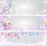 Shining Christmas backgrounds Stock Photography