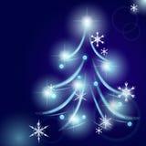Shining Christmas fir Royalty Free Stock Image
