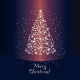 Shining christmas fir Stock Images