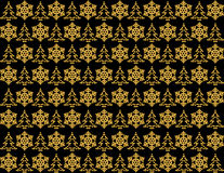 Shining christmas pattern on black background Stock Photography