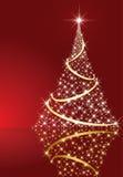 Shining Christmas tree Stock Photo