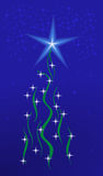 Shining christmas tree Stock Images