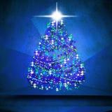 Shining Christmas tree Stock Photos