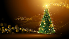 Shining Christmas tree Stock Images