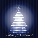 Shining christmas tree Royalty Free Stock Photos