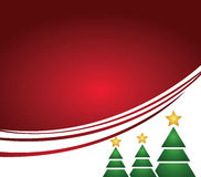 Shining christmas tree with lines and greeting Stock Photography