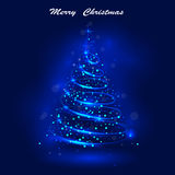 Shining christmas tree, the magic christmas tree, shinny christm Royalty Free Stock Photography