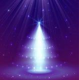 Shining Christmas tree. Vector illustration royalty free illustration