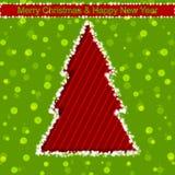 Shining Christmas tree. Vector illustration Stock Images